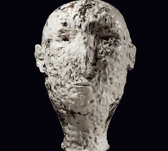 xavier toubes – head – galerie metzger gallery ceramic sculpture art