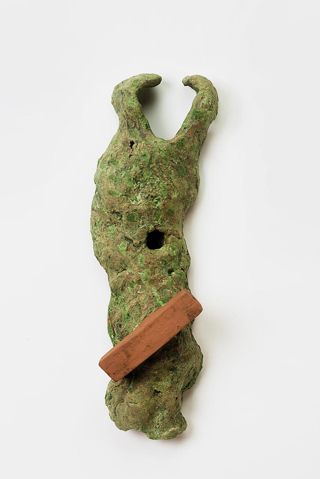 Klaus Lehmann –Faun –2012, 41x13x9cm –Galerie Metzger Gallery Johannesberg Nachlass-Verwaltung Kunst Plastik Sculpture Art Ceramics