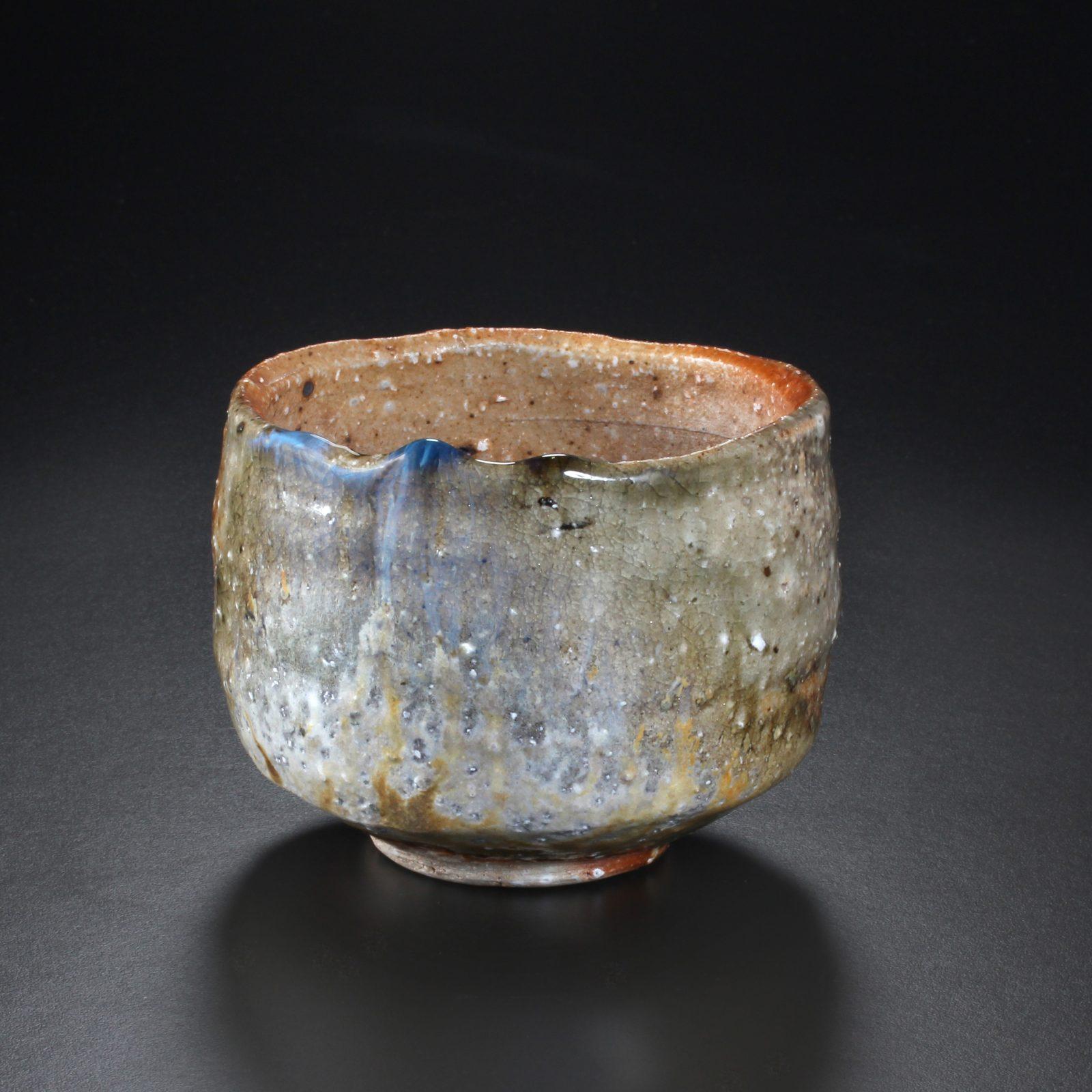 Uwe Löllmann –Chawan –h3cm, Holzbrand – Galerie Metzger Aschaffenburg Kunst Keramik angewandte Kunst Art Gallery Woodfiring