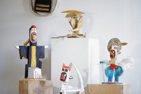 hermann grueneberg Volxkunst Versuchsanordnung 2018 galerie metzger gallery skulptur art plastik