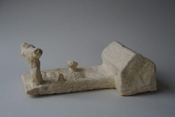Hans Fischer –hier –2017, 40x18x13 cm –Gallery Metzger,zeitgenössische Keramik und Plastik