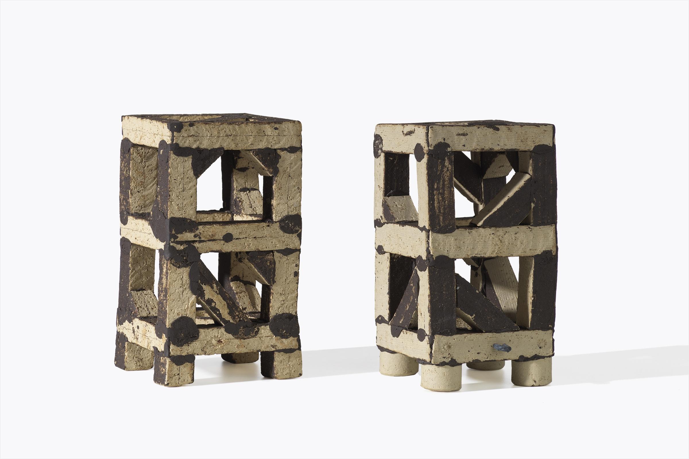 Franz Josef Altenburg –Türme – 2018 –Gallery Metzger –sculpture ceramic Collect 2019 Saatchi gallery, Foto Michael Maritsch