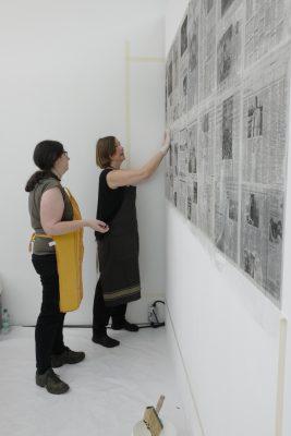 Kerstin Abraham-installative-work-2019-Entstehung der Wand