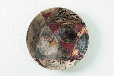 Ute Brade –bemalter Teller –1999, ø 42,5cm –galerie metzger ceramic angewandte kunst keramik