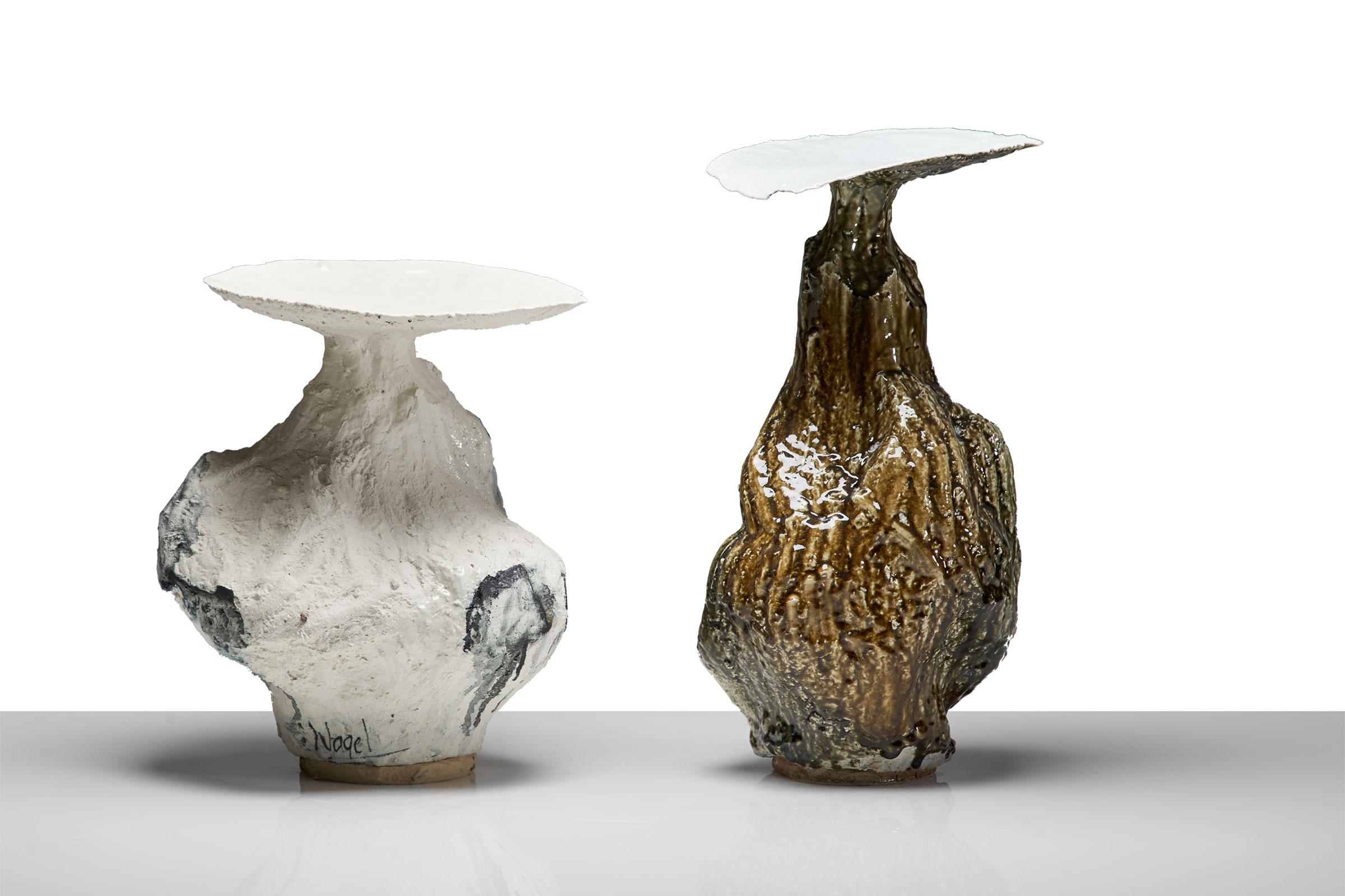 Johannes Nagel – Gefäße, Porzellan – 2003, 45 & 55 cm – galerie metzger ceramic contamporary object art gallery