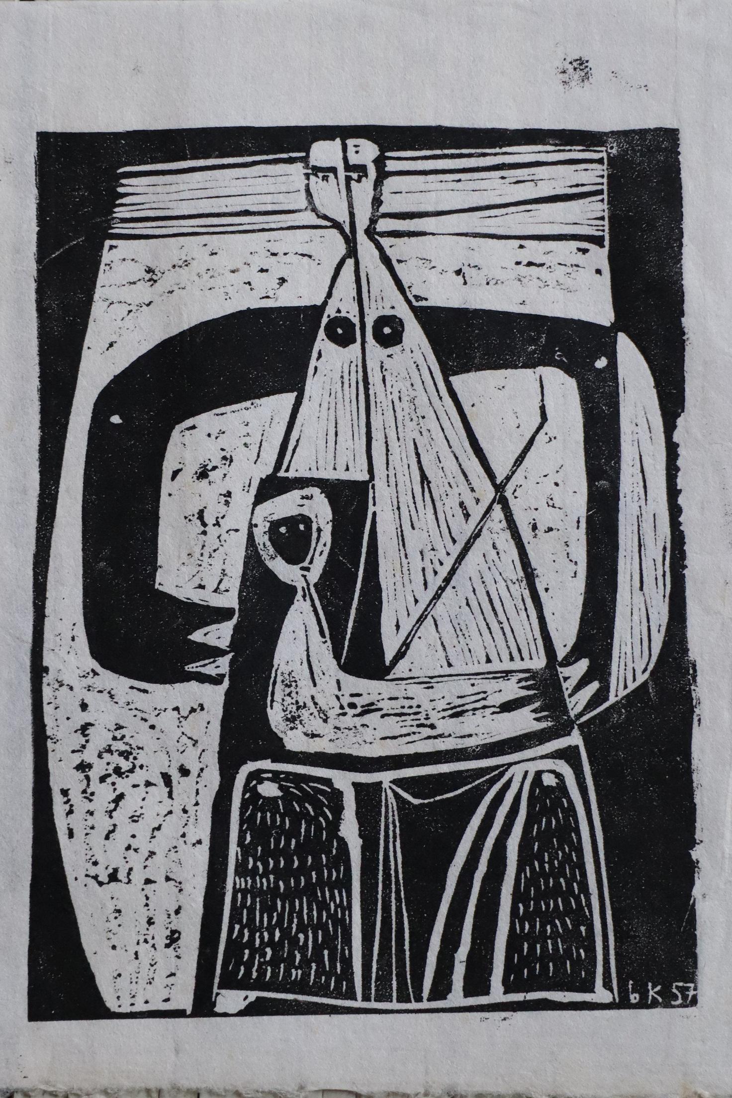 Beate Kuhn - Linolschnitt -1957, Auflage unbekannt