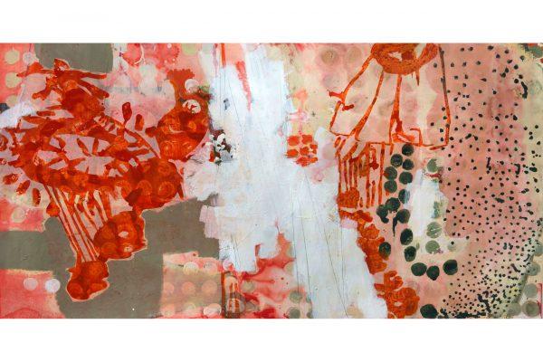 Claudia Spielmann - Landscape orange - 96 x 187 cm - Tusche auf Papier 2012