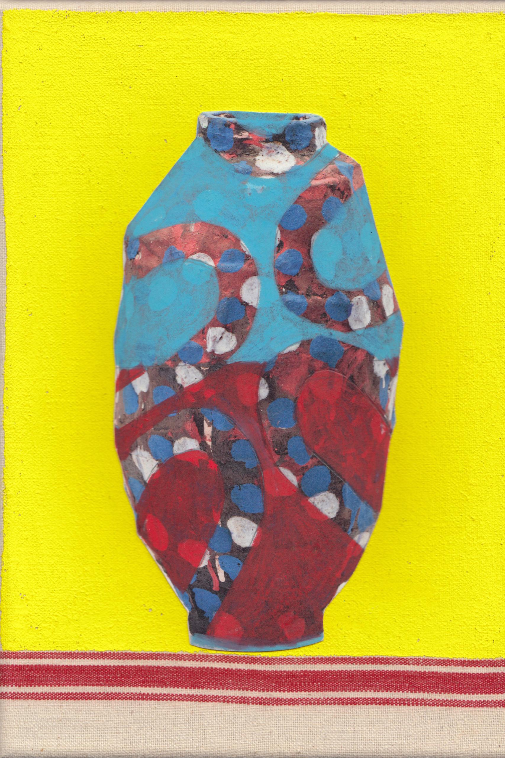 Elke Sada - Vase im Zitronengelb -