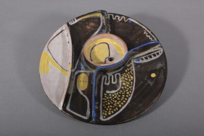 Beate Kuhn - Teller mit Unterteilung - ca Ende 50er Jahre 4 x 28cm